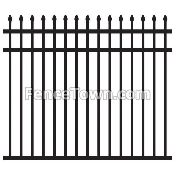 Spear Top Aluminum Pool Fence