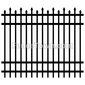 Alternating Spear Pickets Aluminum Fence Panel