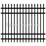 Spear Top Aluminum Fence Panel