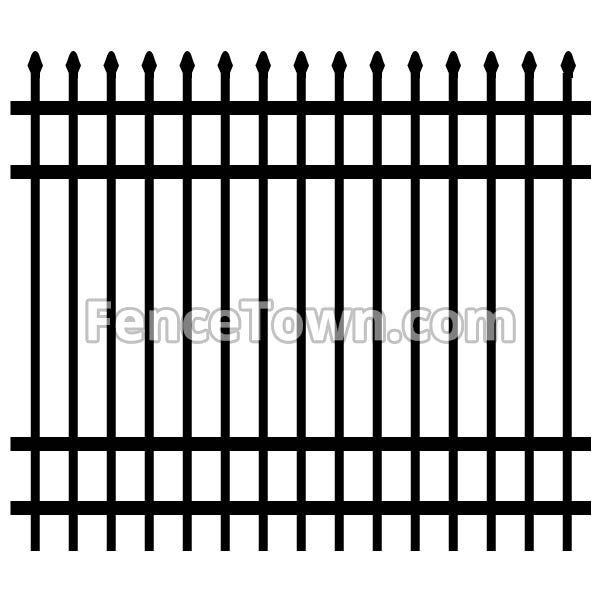 Spear Top Aluminum Fence Panel 72H