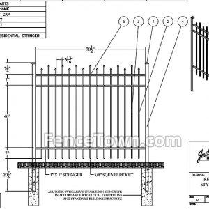Jerith Style 100 Aluminum Fence Specs