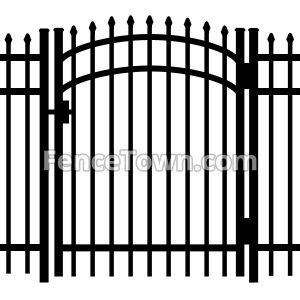 Pressed spears arched gate