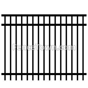 Aluminum Fence Panel Flat Top