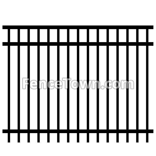 Aluminum Fence Panel Flat Top