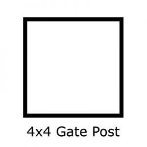 4x4 Gate Post