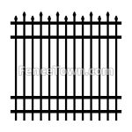 Alternating Spear Picket Industrial Aluminum Fence   FenceTown