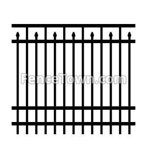 Industrial Grade Aluminum Fence Panel