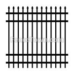Spear Top Industrial Aluminum Fence   FenceTown