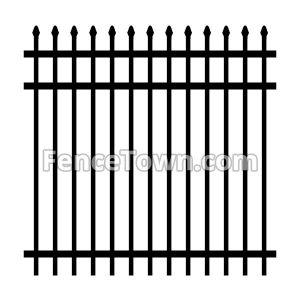 Spear Top Industrial Aluminum Fence