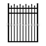 Alternating Spear Top Aluminum Gate 48W | FenceTown