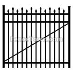 Alternating Pressed Spear Top Gate 60W | FenceTown