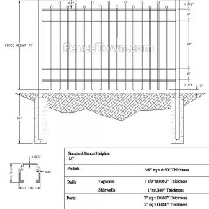 Onguard Kestral Panel 72H Specs