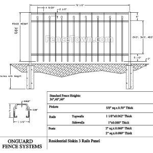 Onguard Siskin Fence Panel 36H-60H Specs