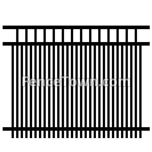 Double Picket Aluminum Fence