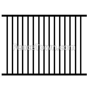Aluminum Fence Panel 2 Rail