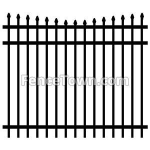 Concave Aluminum Fence Panel