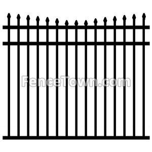 Concave Aluminum Pool Fence Panel