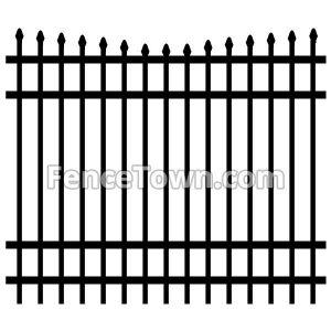 Concave Aluminum Fence Panel 72H