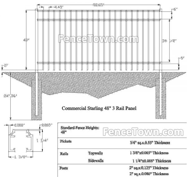 Onguard Starling Commercial Aluminum Fence