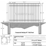 Onguard Starling Commercial Fence 60H   FenceTown