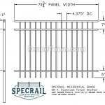 Specrail Saybrook 48H Residential Fence Specs   FenceTown