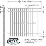 Specrail Saybrook 60H Residential Fence Specs | FenceTown