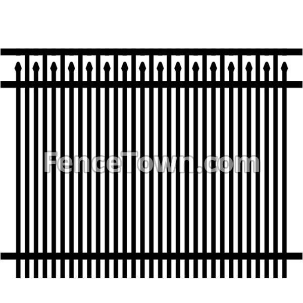 Double Picket Fence Panel