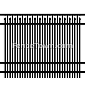 Double Picket Fence Panel 72H