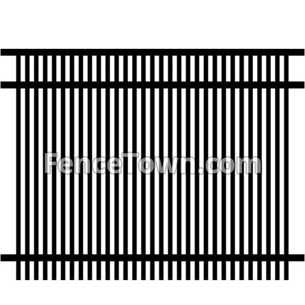 Double Picket Aluminum Fence Panel