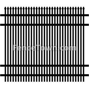 Double Picket Aluminum Fence 72H