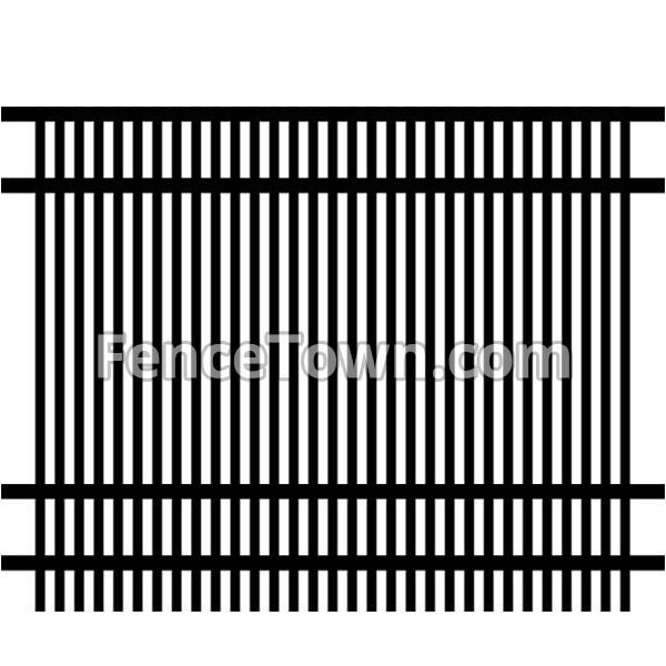 Double Picket Flat Top Fence Panel 72H