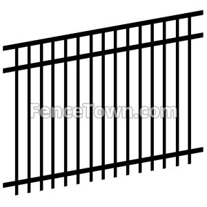 Triple Punched Fence Panel
