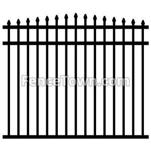 Convex Aluminum Fence Panel 57H