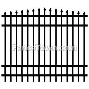 Convex Aluminum Fence Panel 72H