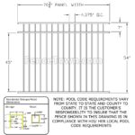 Specrail Saybrook Storrs 54H Fence