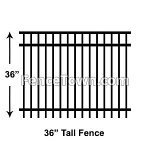 36 Inch Tall Aluminum Fence Panels