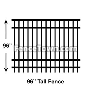 96 Inch - 8 Foot Tall Fence