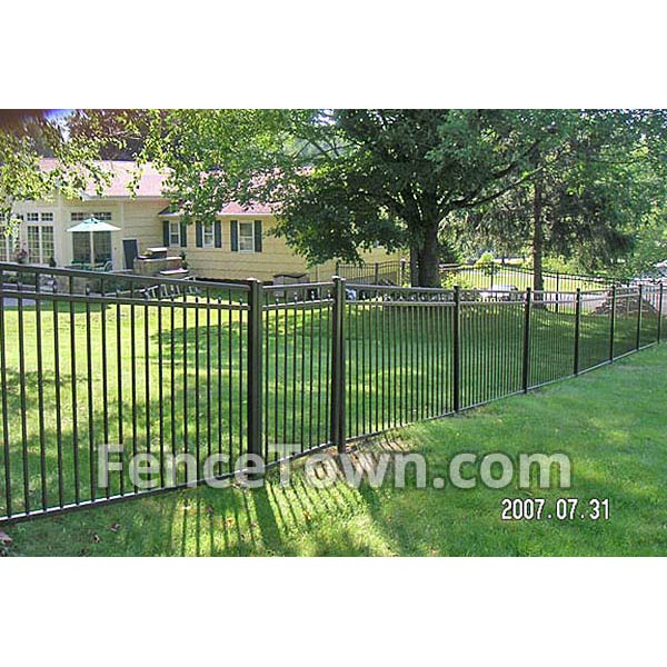 Aluminum Fence Panel Racking | Fence On A Slope | FenceTown
