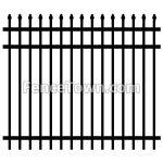 Pressed Spear Top Aluminum Fence Panel