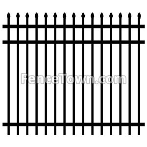 Pressed Spear Top Aluminum Fence Panel