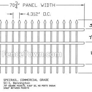 Specrail Bennington Commercial Fence