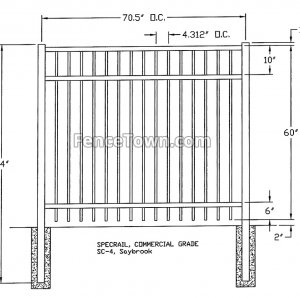 Specrail Saybrook Commercial Fence Specs