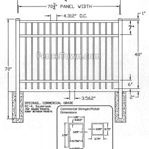 Specrail Saybrook Commercial Fence Specifications