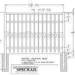 Specrail Saybrook Fence 48H x 72W | FenceTown