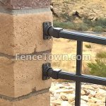 Elite Angle and Post Brackets in Bronze   FenceTown