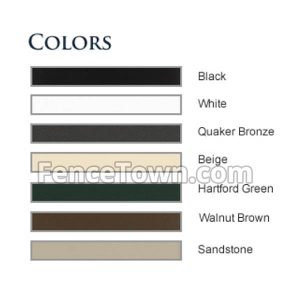 Elite Aluminum Fence Colors