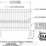 Elite EFF-20 Aluminum Fence Panel Specs | FenceTown