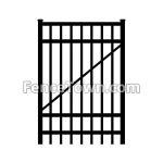 Flat Top Aluminum Gate 72H x 36W | FenceTown