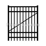 Flat Top Aluminum Gate 72H x 48W | FenceTown