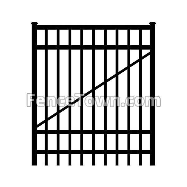 Flat Top Aluminum Gate 72H x 48W